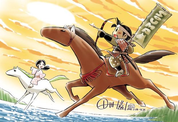 2012年相馬野馬追連動企画「武者絵展」参加イラスト:デジタル彩色版