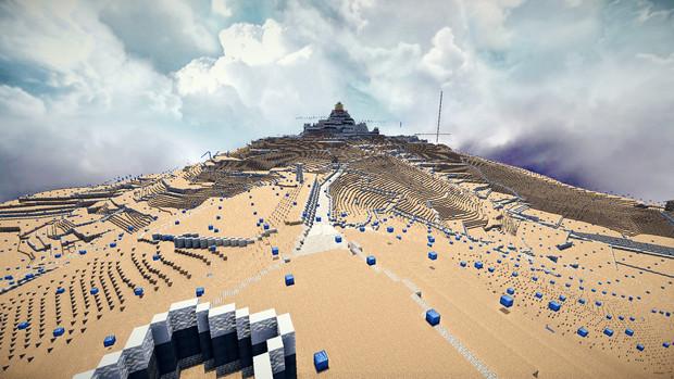【Minecraft】 安土城を山ごと再現中 其ノ八
