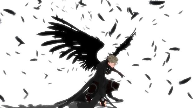 Mme羽パーティクル改2配布黒い羽追加しました ラテ さんの