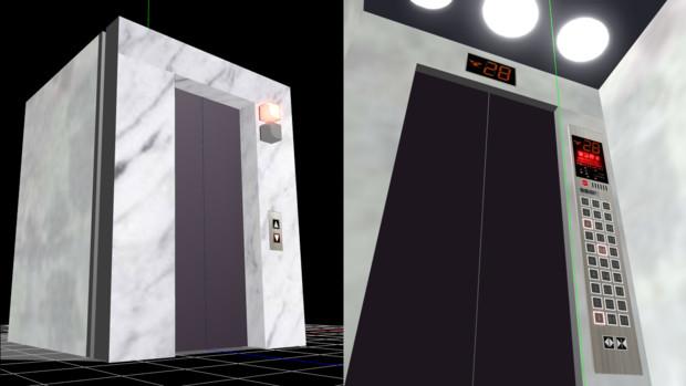 エレベータモデル配布