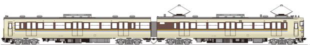 JR西113系3800番台 側面イラスト