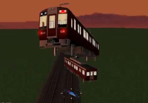 Railsimで阪急8200系が複線ドリフトしようとしたら・・・