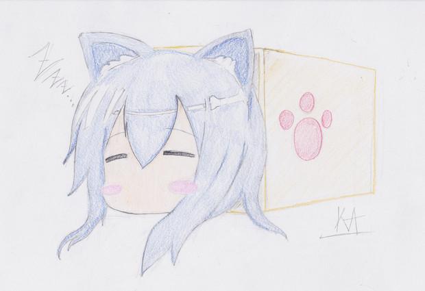 箱にゃんこ