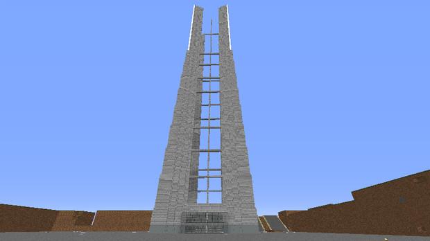 ランドマークタワーの骨組み完成昼版 ライ さんのイラスト