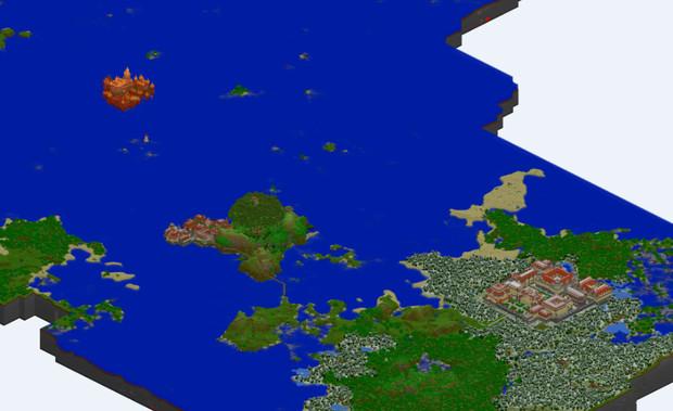 【Minecraft】ブロッコリ島嶼王国全図【MCmap】
