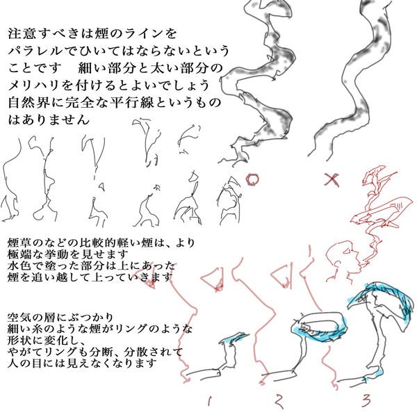 理屈に基づいた煙の描き方3 セーガン さんのイラスト ニコニコ静画
