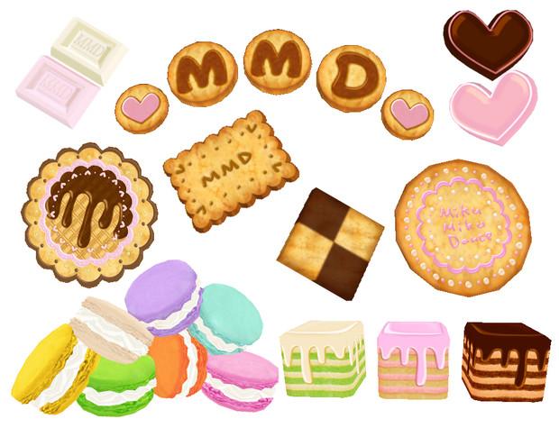 Mmd用お菓子パーツ配布 ハチ さんのイラスト ニコニコ静画