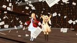 【MME】本のページが降るエフェクト配布