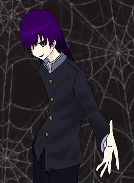 紫髪の生徒