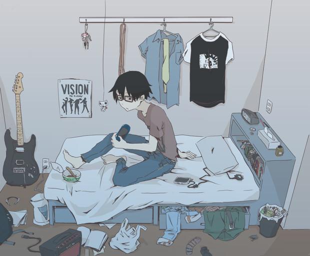 汚部屋 ニコニコ静画 イラスト