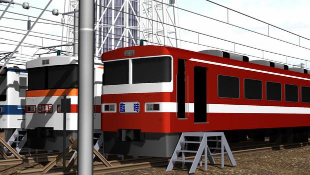 東武の赤い電車