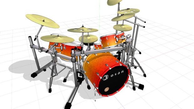 ロック向けっぽいドラムセット
