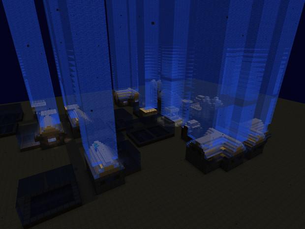 【minecraft】海底の村
