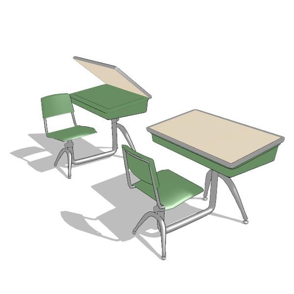 【MMD】アメリカの小学校にありそうな机