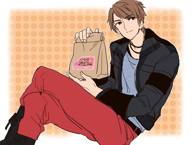 「ドーナツ買って来たよ」