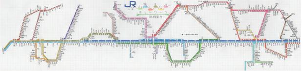 JR西日本山陽支社 山陽しまなみネットワーク 路線図
