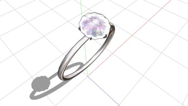 なんとか指輪(MMDアクセ)