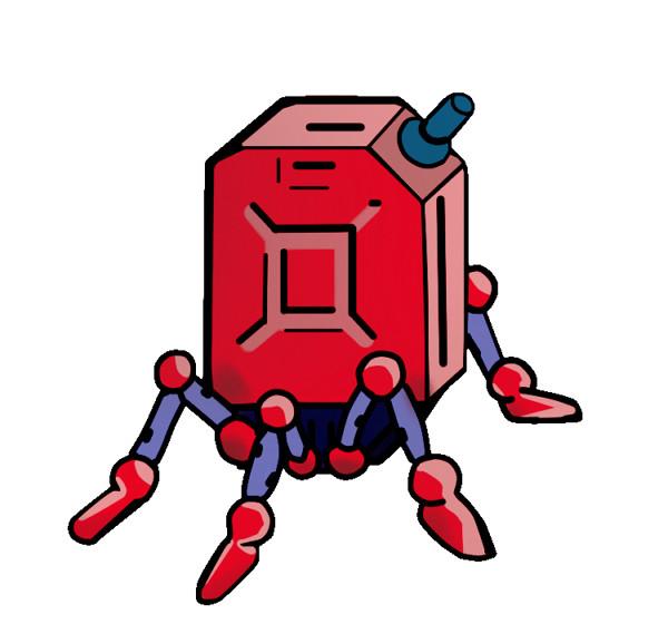 赤いポリタンク
