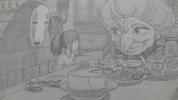 【シャーペン】千と千尋の神隠し(ハクの判子返しにきました!)