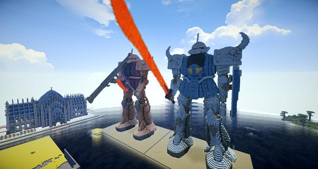 【minecraft】グフザク 影modバージョン