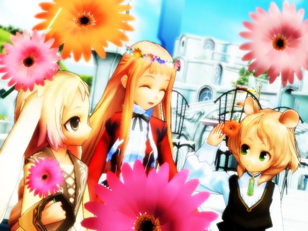 【MMD】花のある世界