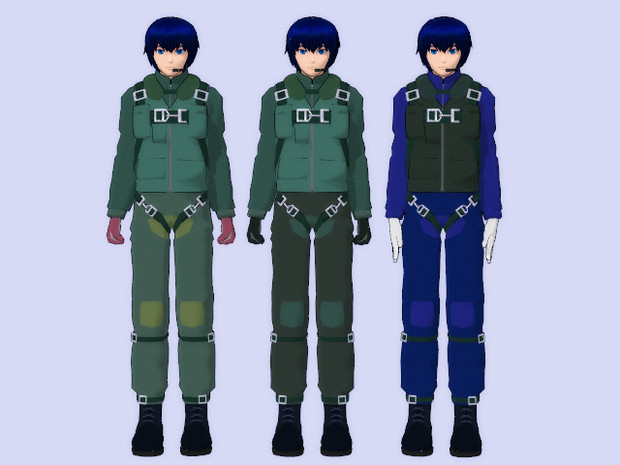 【KAITO】 パイロット~色変えテクスチャ