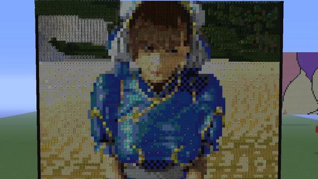 春麗さんのエクササイズのドット絵