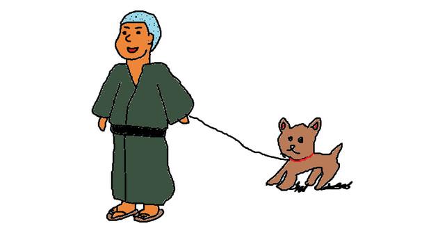 散歩を嫌がる犬を無理やり引きずり回し大阪東京間を歩ききった明治時代の一般的な男性