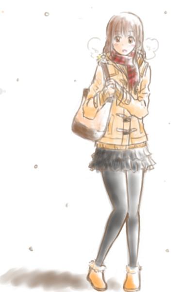 冬 女の子