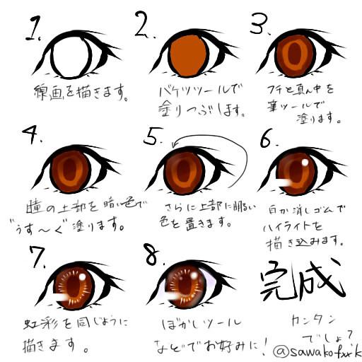 レイヤー一枚で塗れる瞳の塗り方 35 かど さんのイラスト ニコニコ