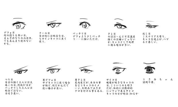 目の種類 描き分け 紙様 さんのイラスト ニコニコ静画 イラスト