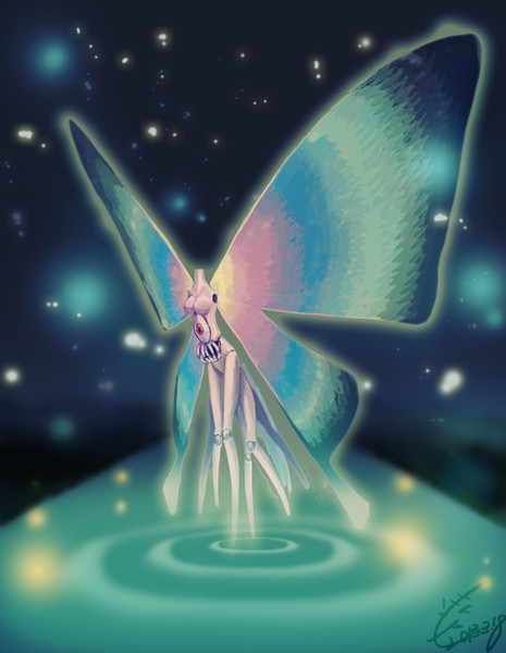 2時間で描いた「蝶蝶」