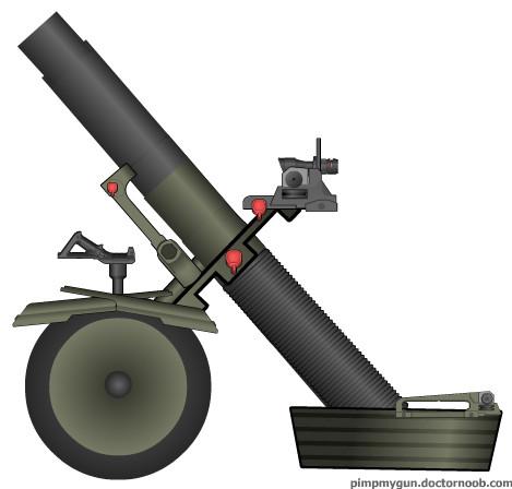 迫撃砲(車輪付き)