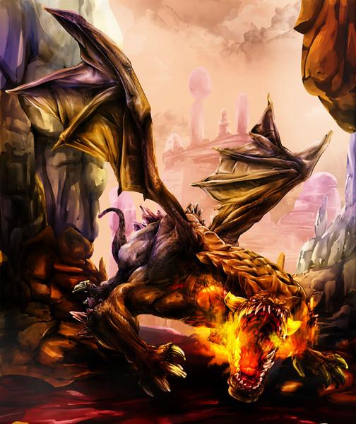 ドラゴン描いてみた