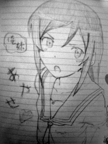 【俺の妹が(ry】黒髪のあの子を描いてみたよ!