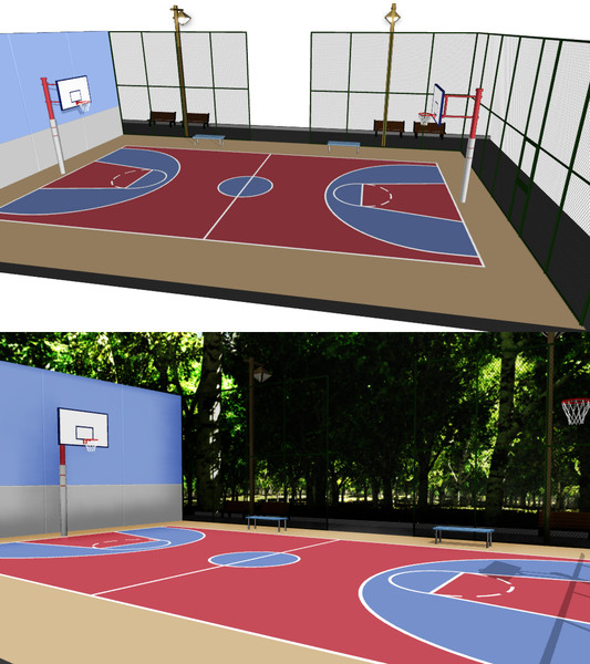 バスケットボールコート【ステージ配布】