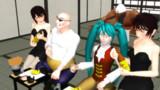 【MMD】伊香保に一席設けました【おおむね、ばねさんモデル】