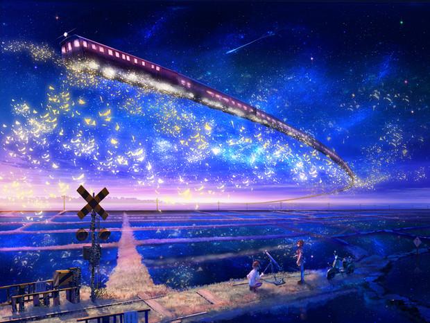 夜空の鉄道