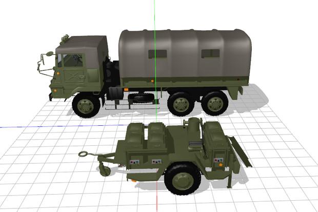 【MMD-OMF3】73式大型トラック および 野外炊具1号(改) モデル配布