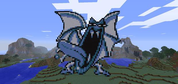 【Minecraft】でゴルバットを作ってみた(ブルー版)