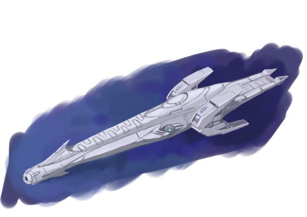 星界軍カウ級巡察艦-前- / mae...