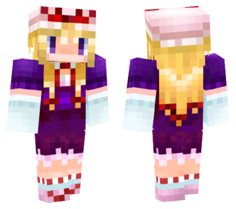 【Minecraft】八雲紫スキンスクショ【東方】