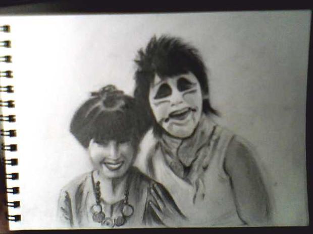 徹子の部屋 ゴールデンボンバー出演記念!で描いてみた。