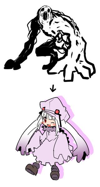 段階をわけずにキャラクターを描くとこうなる