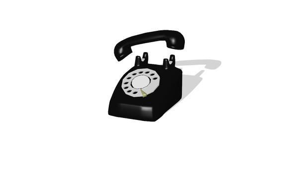 【MMD-OMF3】黒電話【アクセ配布】