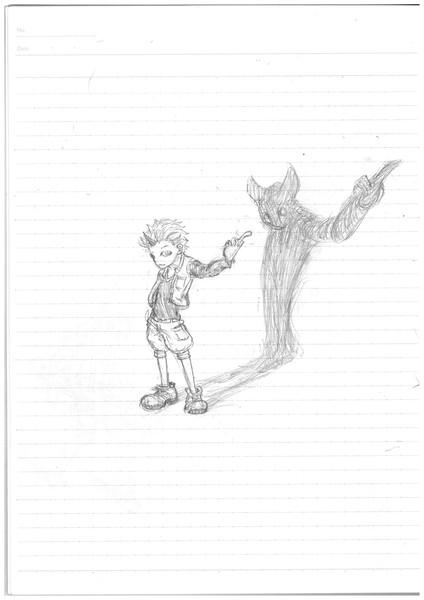 ノートに描いてみた