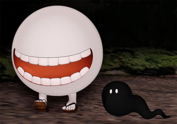 【MMD-OMF3】べとべとさん、ぬるぬる坊主