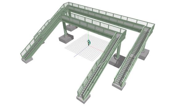 [OMF3]歩道橋を作って見た