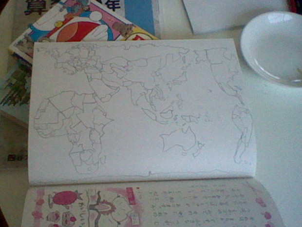 世界地図を描いてみた1