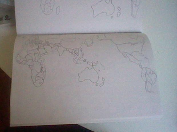 世界地図を描いてみた2